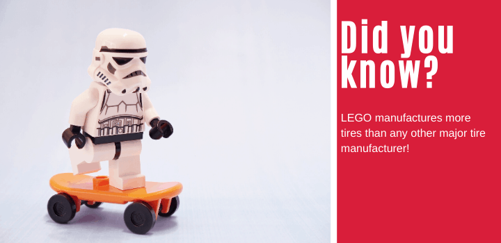 Did you know: LEGO manufactures more tires than any other major tire manufacturer!